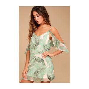 Dresses & Skirts - Tropical Leaf Cold Shoulder Dress